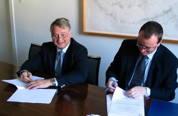 Unterzeichnung des Baurechtsvertrags